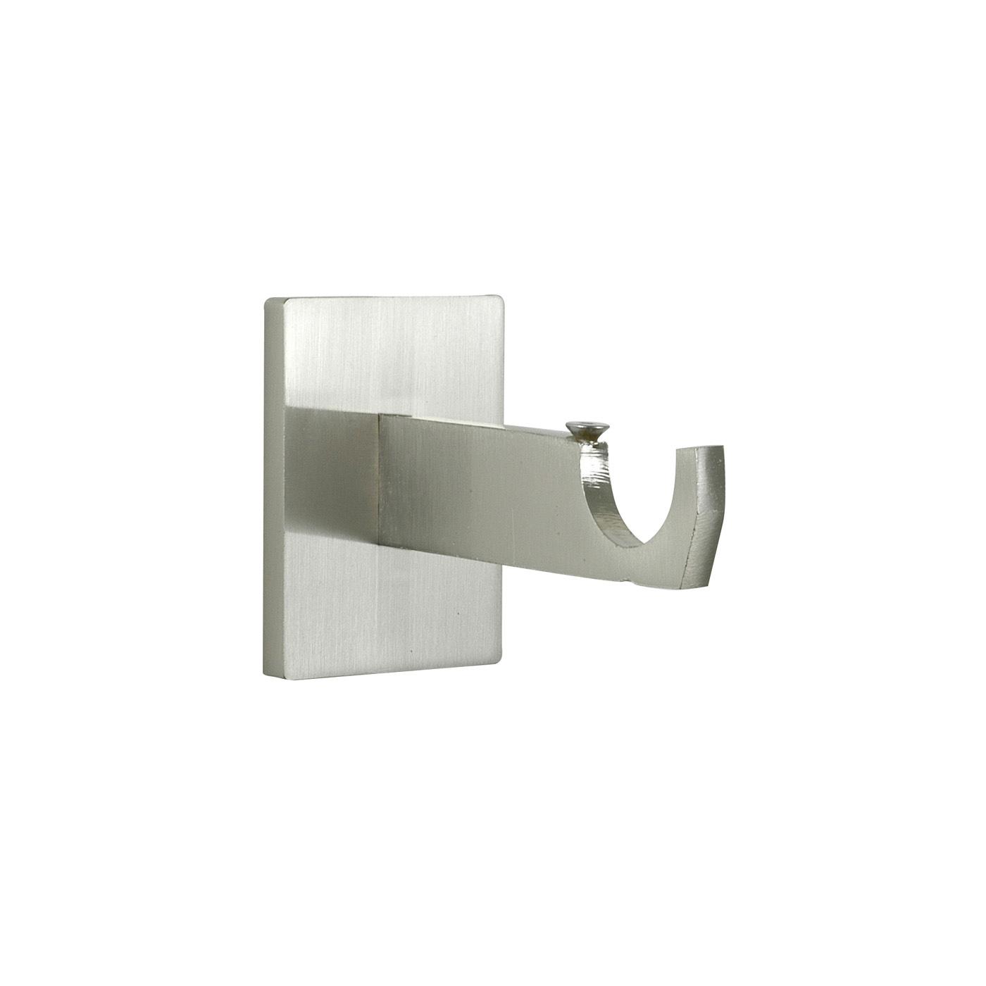 Houl s 2 supports 80mm mur 25mm pour tube ou rail rond for Tringlerie porte fenetre